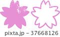 さくらスタンプ 文字なし 37668126