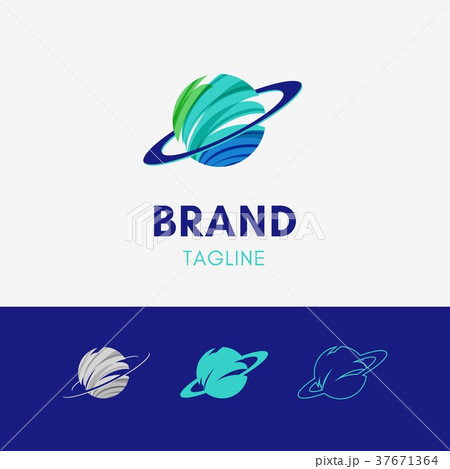 abstract orbit planet logo template icon symbolのイラスト素材