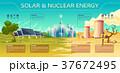 ソーラー 太陽 エネルギーのイラスト 37672495