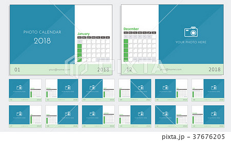 Photo Calendar 2018 ready to print 37676205