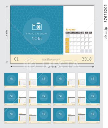 Photo Calendar 2018 ready to print 37676206
