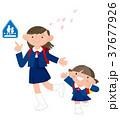 小学生 通学 春のイラスト 37677926