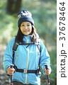 山歩き ハイキング 山の写真 37678464