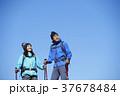 山歩き ハイキング 青空の写真 37678484