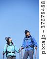 山歩き ハイキング 青空の写真 37678488