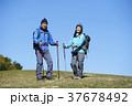 山歩き ハイキング 青空の写真 37678492