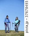 山歩き ハイキング 青空の写真 37678493
