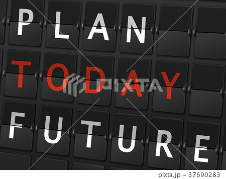 plan today future words on airport board 37690283