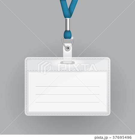 blank identification card templateのイラスト素材 37695496 pixta