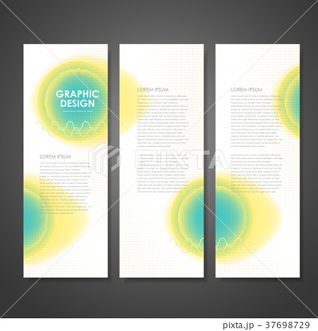 watercolor style business banner templateのイラスト素材 37698729