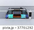 自動運転バスのイメージ。共通プラットフォームで多車種展開可能。オリジナルデザイン 37701292