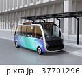 自動運転 バス 乗り物のイラスト 37701296