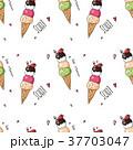 柄 クリーム アイスのイラスト 37703047