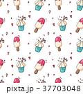 柄 クリーム アイスのイラスト 37703048