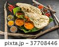 典型的なインドカレー Typical Indian curry set 37708446