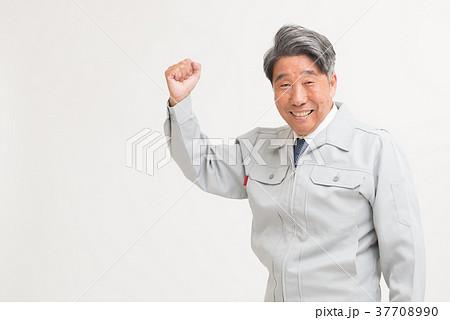 シニア男性 作業服 37708990