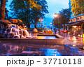 Evening street in Bergen, Norway 37710118