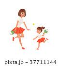 お母さん 娘 遊ぶのイラスト 37711144