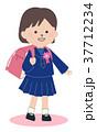 小学生 女の子 子供のイラスト 37712234