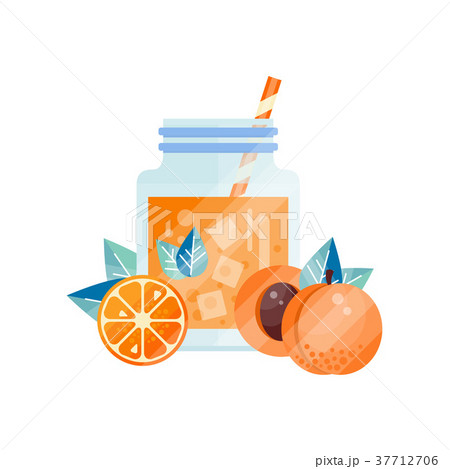 Tasty summer smoothie with orange and apricot 37712706