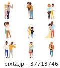 抱っこ 抱擁 抱き合うのイラスト 37713746