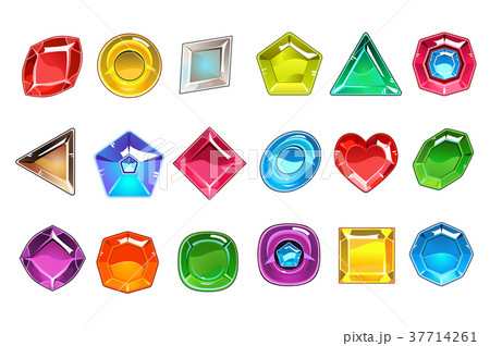 Big collection of colorful valuable stones in 37714261