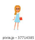 女子 めがね メガネのイラスト 37714385