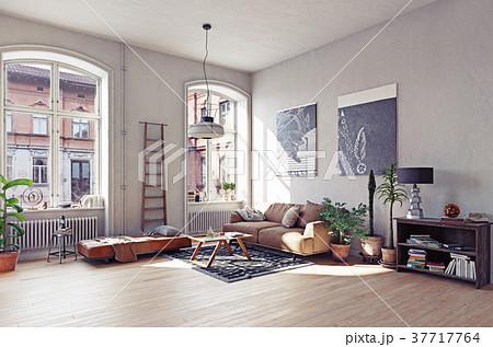 modern living room iのイラスト素材 37717764 pixta