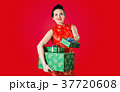 Beauty woman smiles with gifts #3 37720608