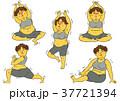 ダイエット 女性 肥満のイラスト 37721394
