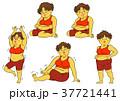 ダイエット 女性 肥満のイラスト 37721441