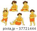 ダイエット 女性 肥満のイラスト 37721444