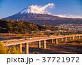 東名高速道路 富士山 早朝の写真 37721972