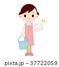 雑巾 バケツ 掃除のイラスト 37722059