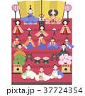 雛人形 お雛様 桃の節句のイラスト 37724354