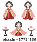 ひなまつり 雛人形 桃の節句のイラスト 37724366
