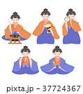 ひなまつり 雛人形 桃の節句のイラスト 37724367