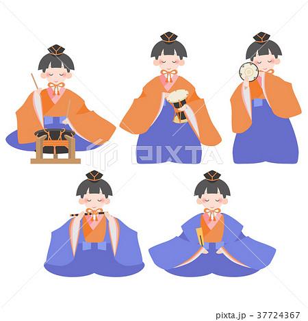 雛人形五人囃子セット 37724367