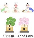 ひなまつり 雛人形 桃の節句のイラスト 37724369