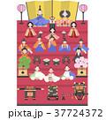 雛人形 お雛様 桃の節句のイラスト 37724372