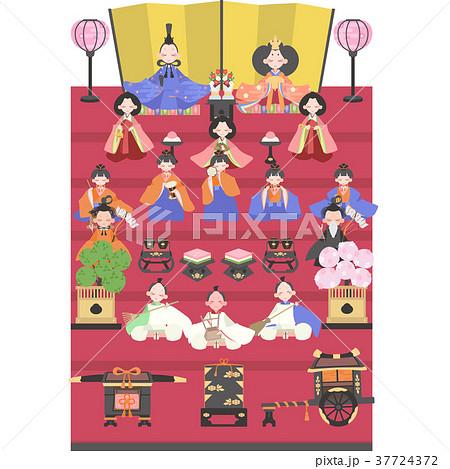 雛人形(15人飾り) 37724372