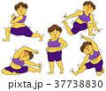 ダイエット 女性 肥満のイラスト 37738830