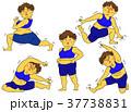 ダイエット 女性 肥満のイラスト 37738831