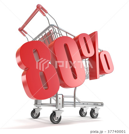 80% - eighty percent discount shopping cart 37740001