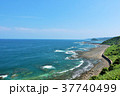 宮崎県 青空と青い海の日向灘 37740499