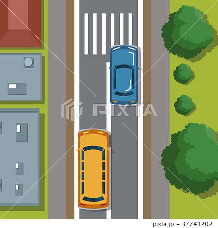 Highways top view cartoon 37741202