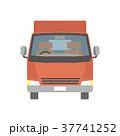 トラック 宅配便 配送のイラスト 37741252