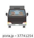 トラック 宅配便 配送のイラスト 37741254