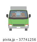 トラック 宅配便 配送のイラスト 37741256