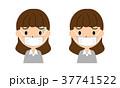 女性 マスク 風邪のイラスト 37741522